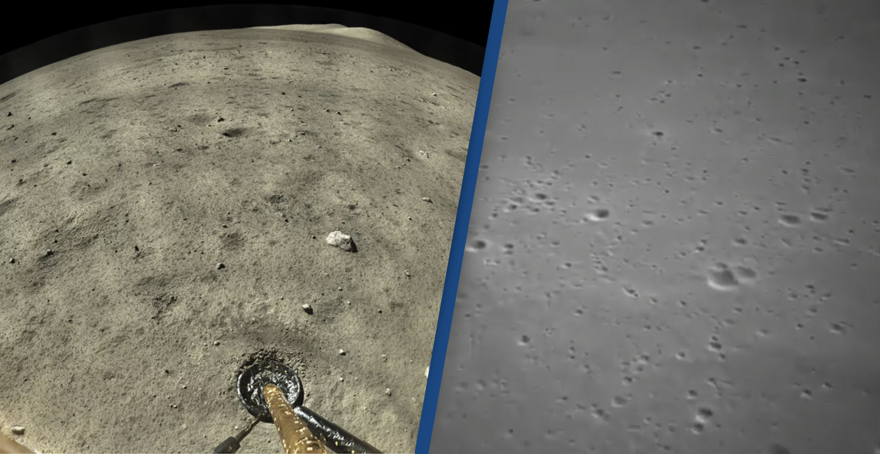 China's Lunar Lander Has Taken Stunning Images From The Moon's Surface