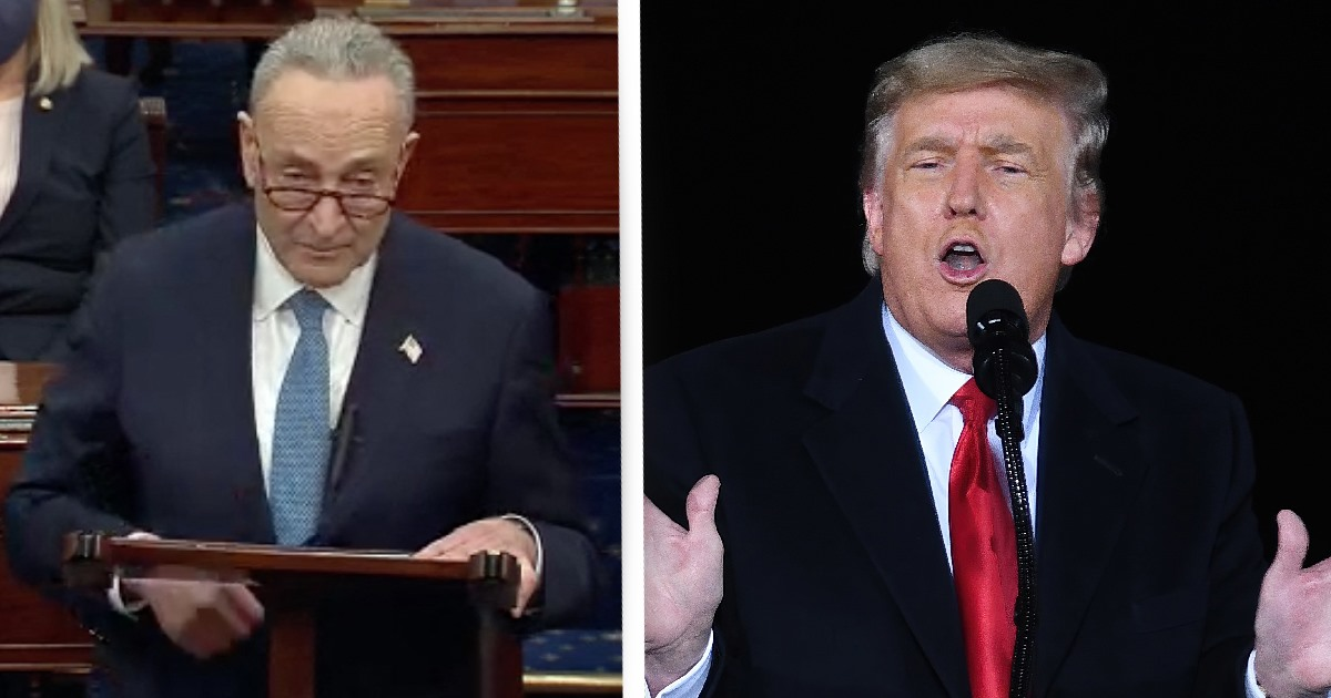 Senate Democratic Leader Chuck Schumer Calls On Trump To Be Immediately Removed From Office