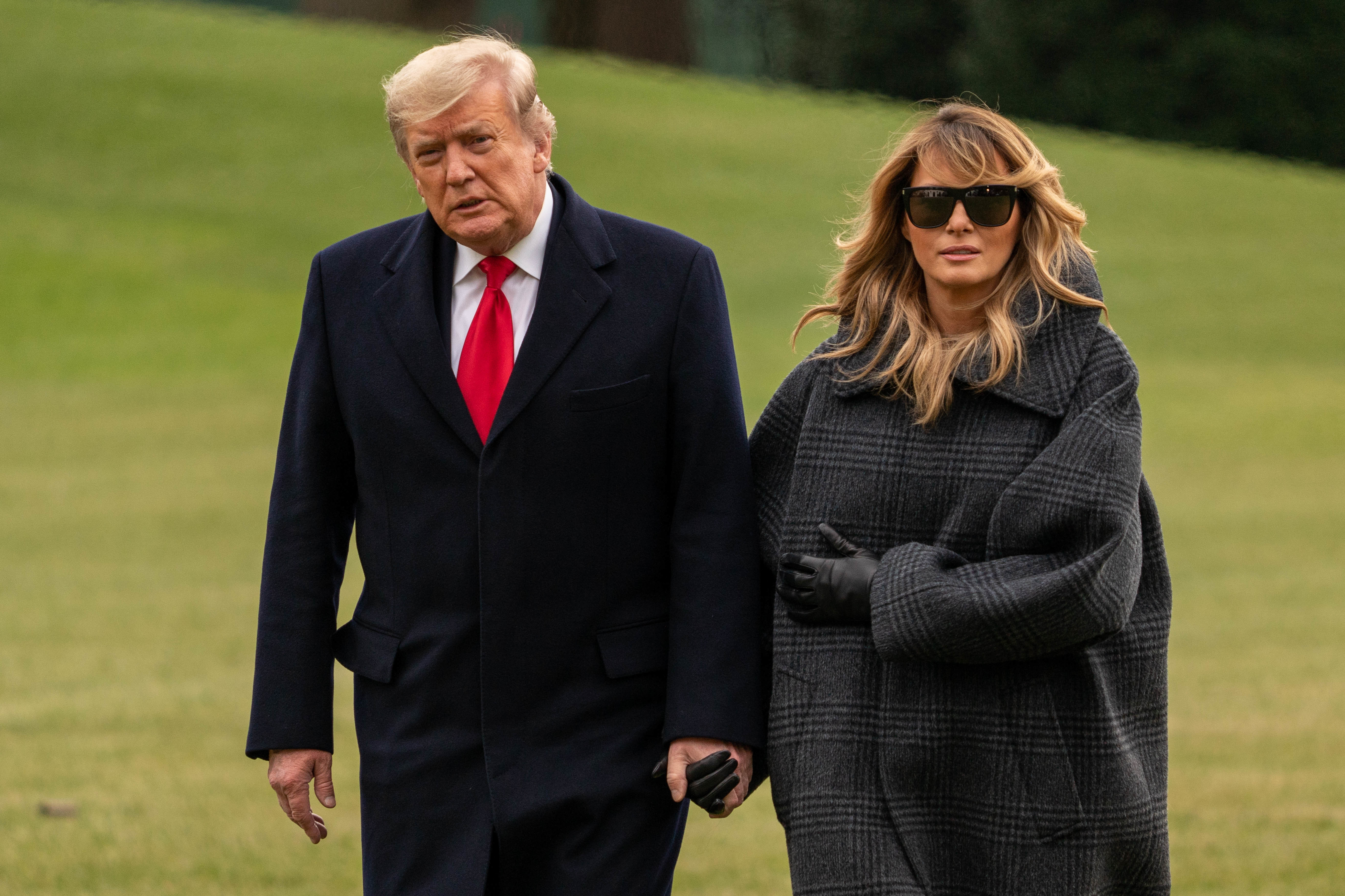 United States President Donald J. Trump and first lady Melania Trump