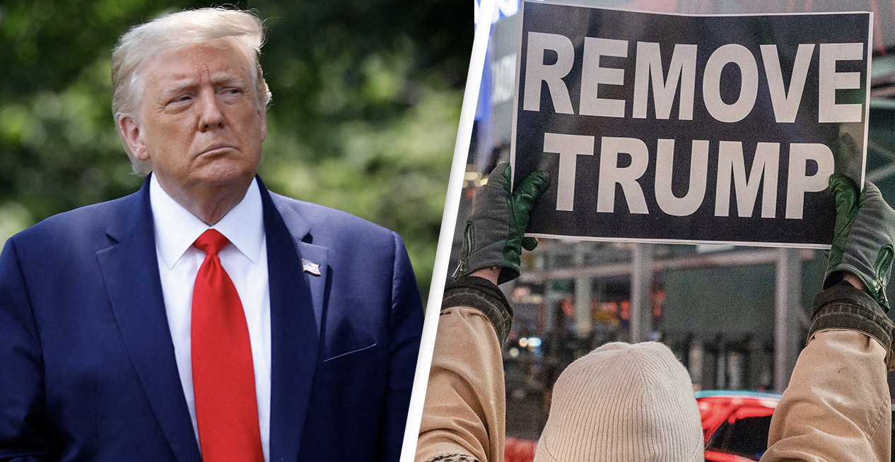 Most Americans Want Trump Immediately Removed From Office, Survey Reveals