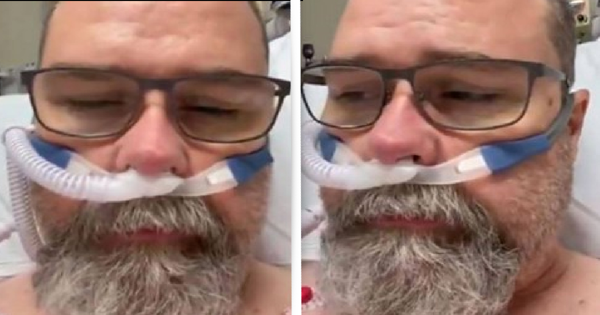 Anti-Masker Admits He Was Wrong In Video Filmed From Hospital Bed