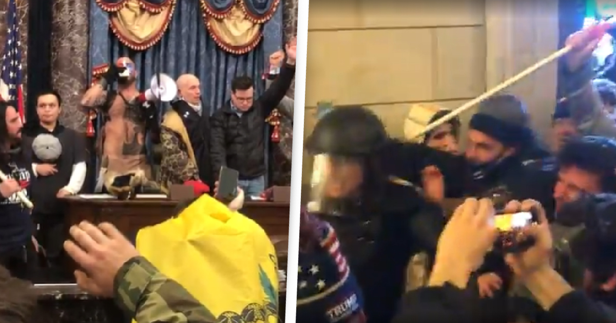 Disturbing Footage Shows Rioters Hunting Down Officials Inside US Capitol 'One By One'