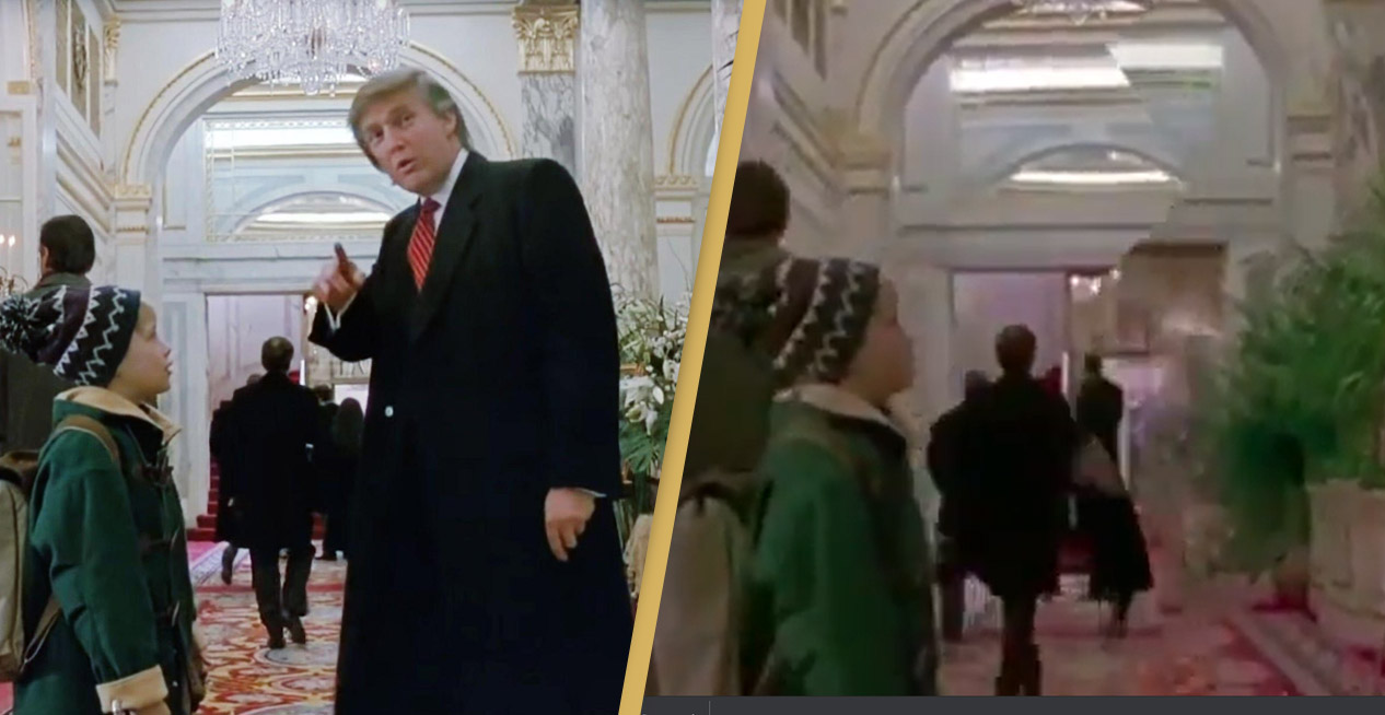 Donald Trump Removed From Home Alone 2 By Fan