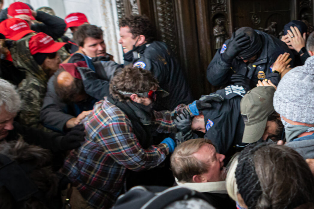 Capitol Police Officers attacked by rioters on January 6 (PA Images)