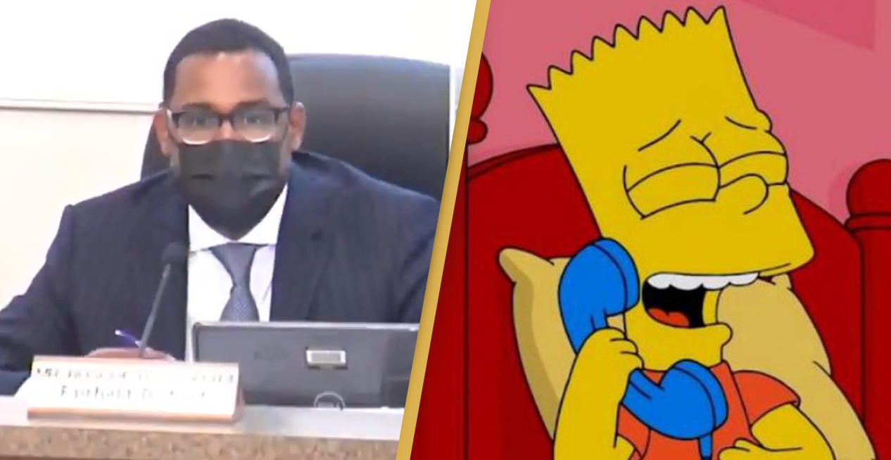 Hilarious Footage Shows School Board Fall For One Of Bart Simpson's Best Pranks
