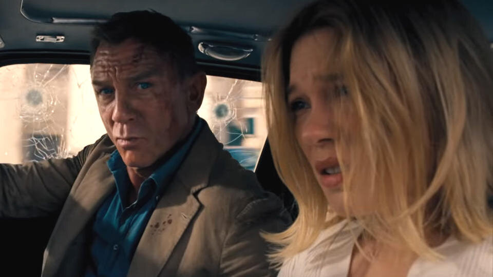 Daniel Craig and Léa Seydoux in No Time To Die. (Universal Pictures)