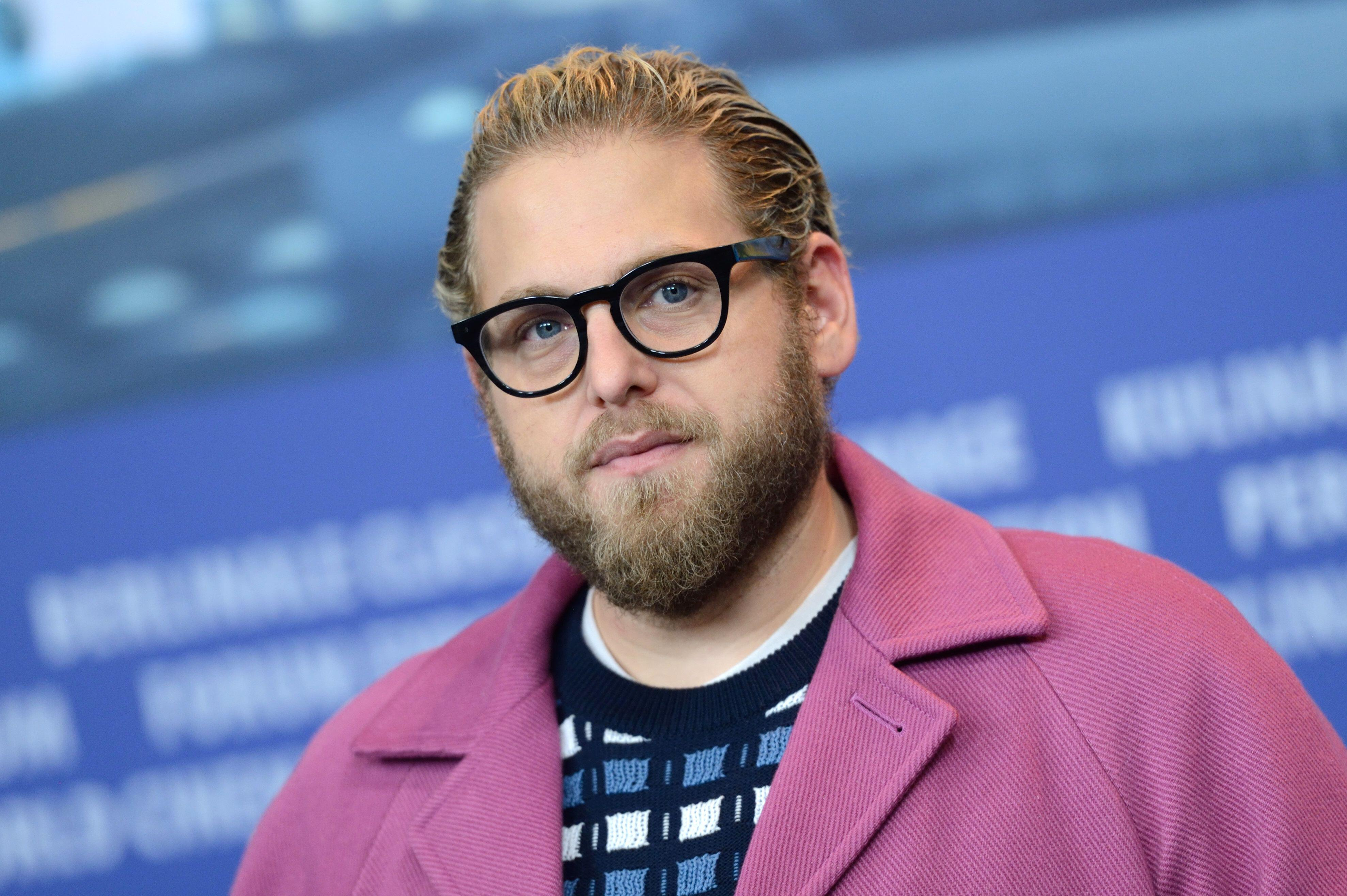 Jonah Hill Body Positivity - Jonah Hill attending the MID90s Press Conference as part of the 69th Berlin International Film Festival (Berlinale) in Berlin, Germany on February 10, 2019. Photo by Aurore Marechal/ABACAPRESS.COM (Alamy)