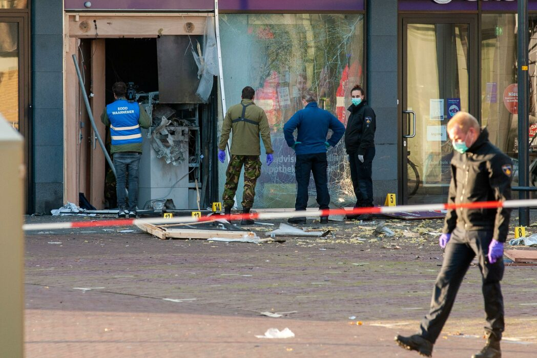 The scene of an ATM bombing in the Netherlands (Alamy)