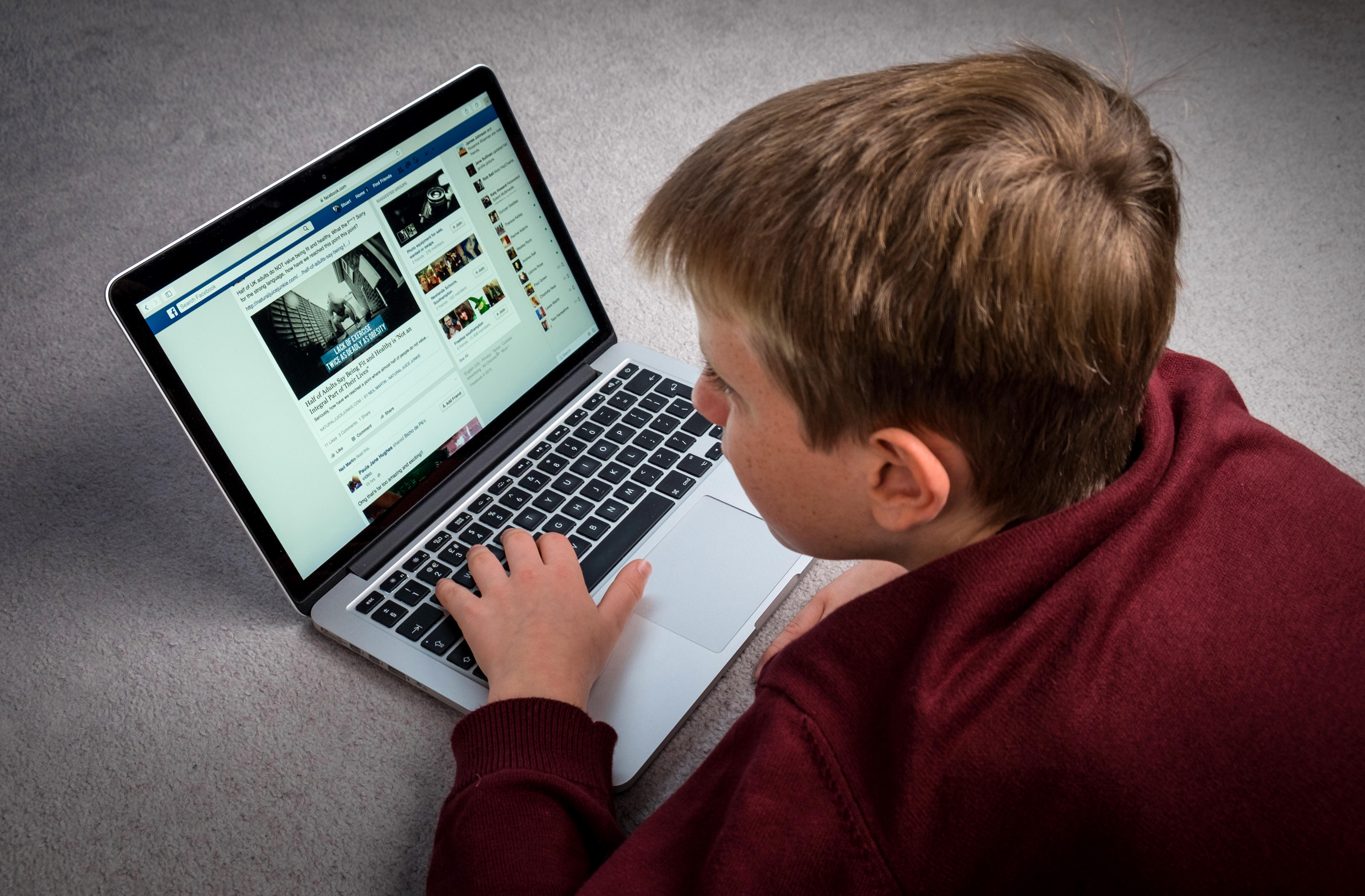Person using a laptop (Alamy)